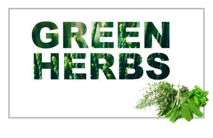الأعشاب العطرية والنباتات الخضراء